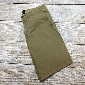 Men's American Eagle Prep Length Khaki Shorts 31